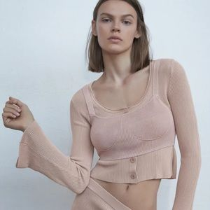 ✨NEW!✨ Zara Pink Bustier Top